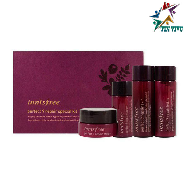 Set-Duong-Mini-Innisfree-Perfect-9-Repair-Special-Kit-4-Items
