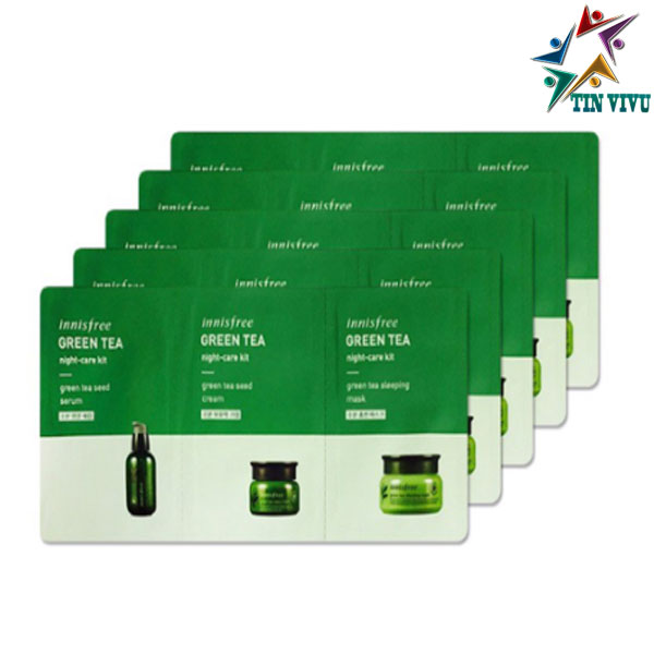 Vi-Sample-Duong-Da-Innisfree-Green-Tea-Night-Kit-3Pcs