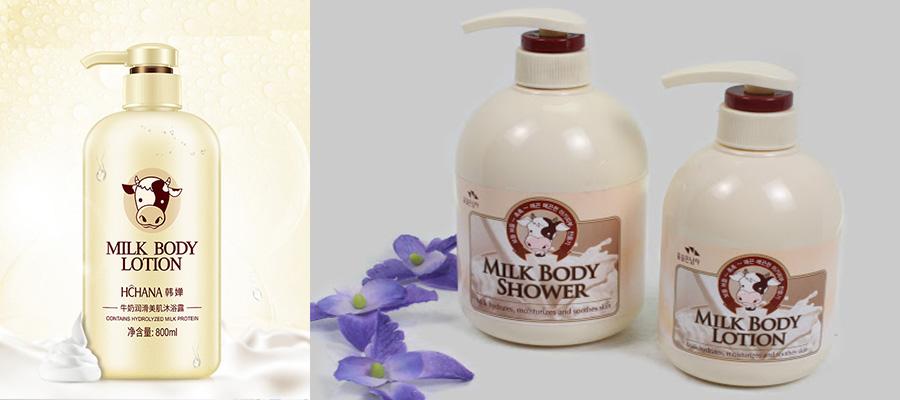 Sữa tắm milk body lotion nội địa Trung quốc